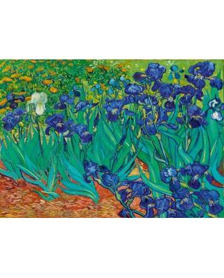 Puzzle 1000 piese - Vincent Van Gogh: Irises, 1889 (Art-by-Bluebird-60006)