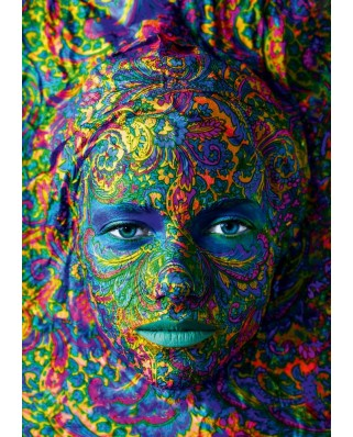 Puzzle Bluebird - Face Art - Portrait of woman, 1.000 piese (60010)