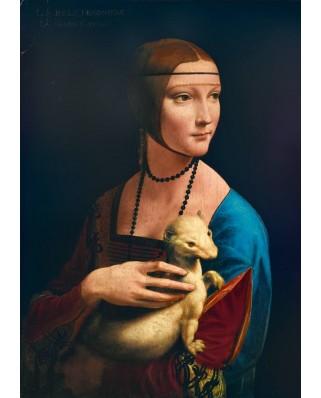 Puzzle Bluebird - Leonardo Da Vinci: Lady with an Ermine, 1489, 1.000 piese (60012)