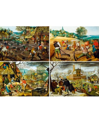 Puzzle Bluebird - Pieter Bruegel: The Four Seasons, 1000 piese (60020)