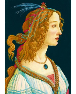 Puzzle Bluebird - Sandro Botticelli: Idealized Portrait of a Lady, 1480, 1.000 piese (60023)