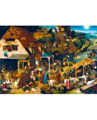 Puzzle Bluebird - Pieter Bruegel: Netherlandish Proverbs, 1559, 1.000 piese (60028)