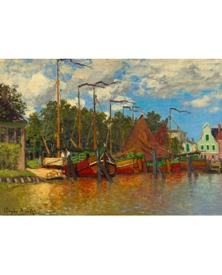 Puzzle Bluebird - Claude Monet: Boats at Zaandam, 1871, 1.000 piese (60031)