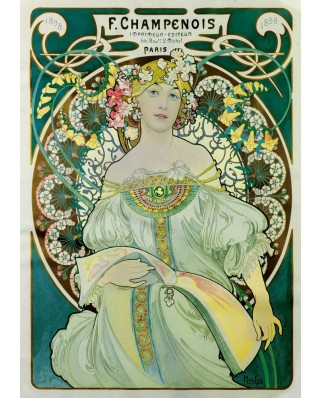 Puzzle Bluebird - Alfons Mucha: Daydream, 1897, 1.000 piese (60033)