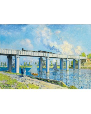 Puzzle Bluebird - Claude Monet: Railway Bridge at Argenteuil, 1873, 1.000 piese (60038)