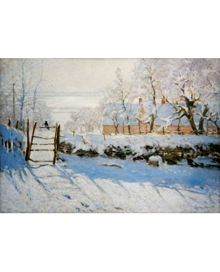 Puzzle Bluebird - Claude Monet: The Magpie, 1869, 1.000 piese (60041)
