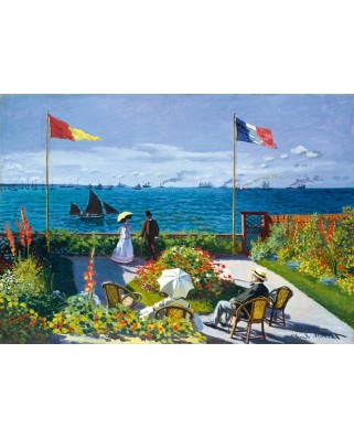 Puzzle Bluebird - Claude Monet: Garden at Sainte-Adresse, 1867, 1.000 piese (60042)