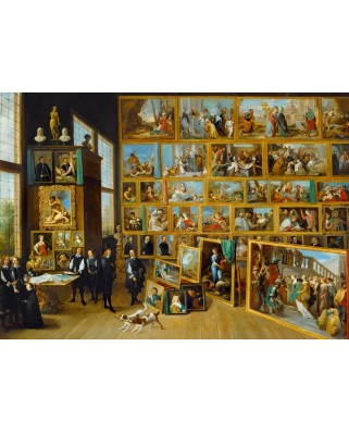 Puzzle Bluebird - David Teniers: The Art Collection of Leopold Wilhelm in Brussels, 1652, 1000 piese (60054)