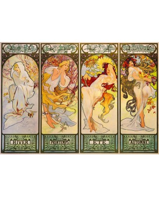 Puzzle Bluebird - Alfons Mucha: Four Seasons, 1900, 1.000 piese (60056)