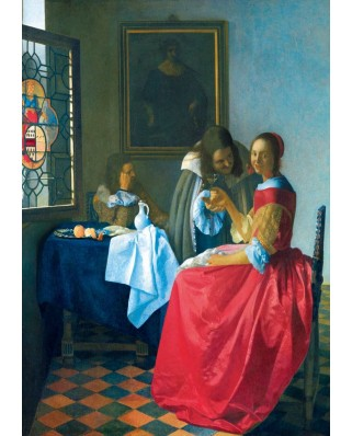 Puzzle Bluebird - Johannes Vermeer: The Girl with the Wine Glass, 1659, 1.000 piese (60067)