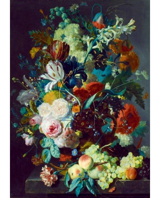 Puzzle Bluebird - Jan van Huysum: Still Life with Flowers and Fruit, 1715, 1000 piese (60072)