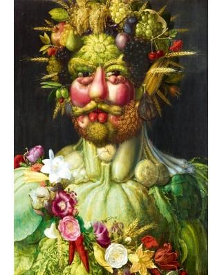 Puzzle Bluebird - Giuseppe Arcimboldo: Rudolf II of Habsburg as Vertumnus, 1590, 1000 piese (60074)