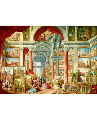 Puzzle Bluebird - Paolo Panini: Picture Gallery with Views of Modern Rome, 1757, 1000 piese (60075)