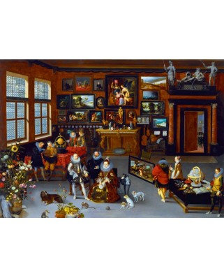 Puzzle Bluebird - Hieronymus Francken: The Albert and Isabella Visiting a Collector's Cabinet, 1623, 1.000 piese (60077)