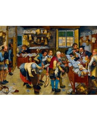 Puzzle Bluebird - Pieter Bruegel: The Tax-collector's Office, 1615, 1.000 piese (60085)