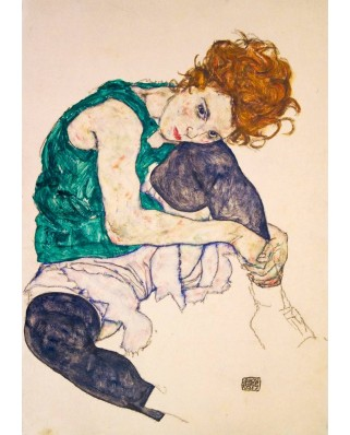 Puzzle Bluebird - Egon Schiele: Seated Woman with Legs Drawn Up, 1917, 1.000 piese (60092)