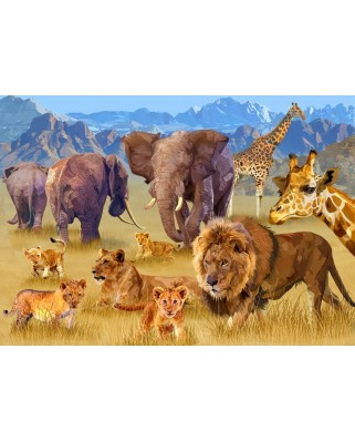 Puzzle Bluebird - Savannah Animals, 1500 piese (70419)