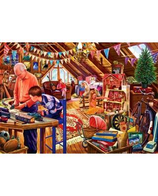Puzzle Bluebird - Steve Crisp: Attic Playtime, 1500 piese (70433)