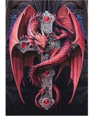 Puzzle Bluebird - Anne Stokes: Gothic Guardian, 2.000 piese (70439)