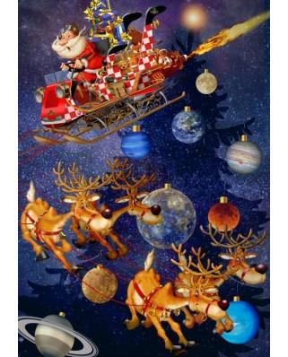 Puzzle Bluebird - Francois Ruyer: Santa Claus is arriving!, 1500 piese (70445)