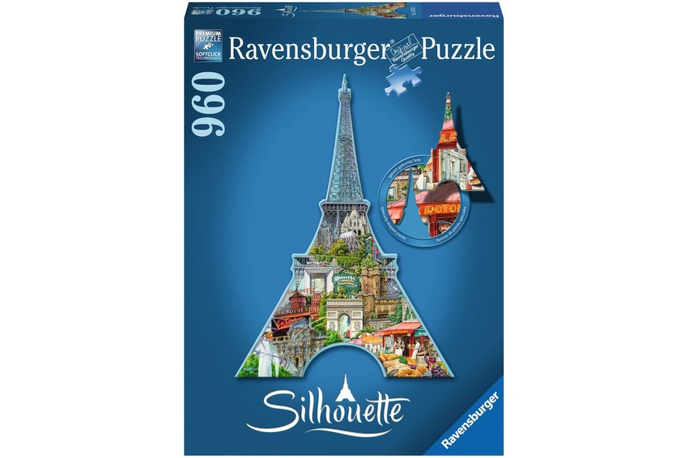 Puzzle Ravensburger - Contur Turnul Eiffel, 960 piese (16152)
