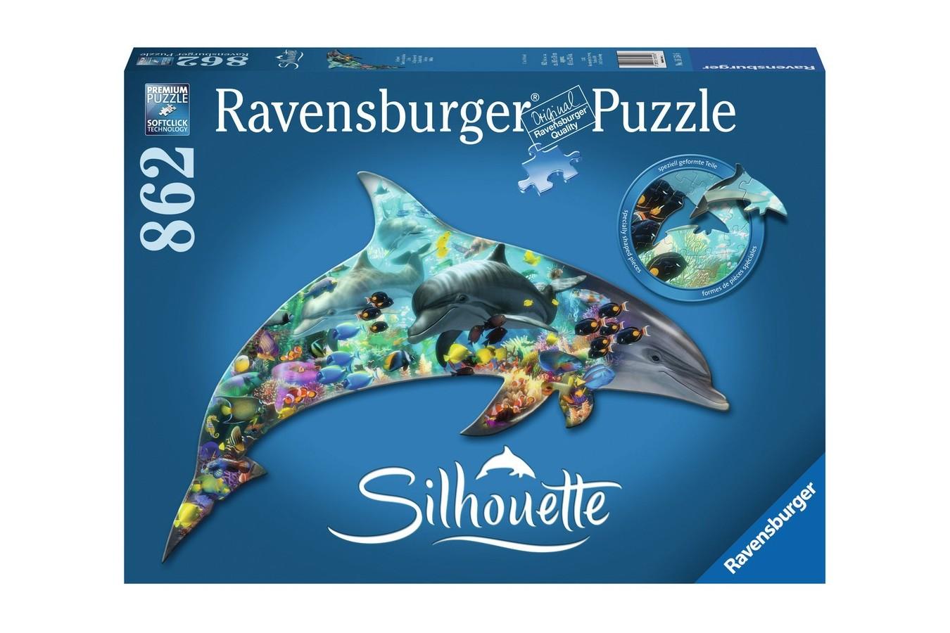 Puzzle Ravensburger - Contur Delfin, 862 piese (16154)