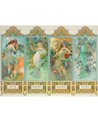 Puzzle Eurographics - Alfons Mucha: Four Seasons, 1000 piese (6000-0824)
