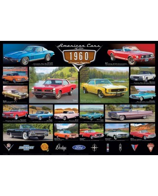 Puzzle Eurographics - American Cars of the 1960s, 1000 piese (6000-0677)