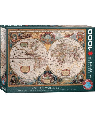 Puzzle Eurographics - Antique World Map, 1000 piese (6000-1997)