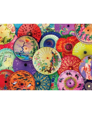 Puzzle Eurographics - Asian Oil Paper Umbrellas, 1.000 piese (6000-5317)