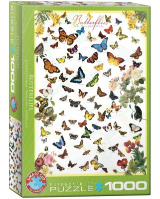 Puzzle Eurographics - Butterflies, 1000 piese (6000-0077)
