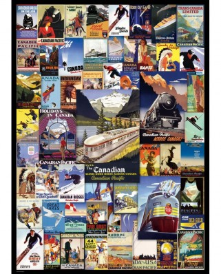 Puzzle Eurographics - Canadian Pacific Rail - Poster Vintage, 1.000 piese (6000-0648)