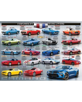 Puzzle Eurographics - Chevrolet The Camaro Evolution, 1000 piese (6000-0733)