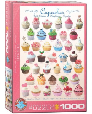 Puzzle Eurographics - Cupcakes, 1000 piese (6000-0409)