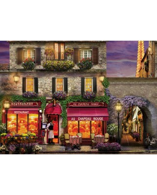 Puzzle Eurographics - David Mc Lean: Restaurant au Chapeau Rouge, 1.000 piese (6000-0963)