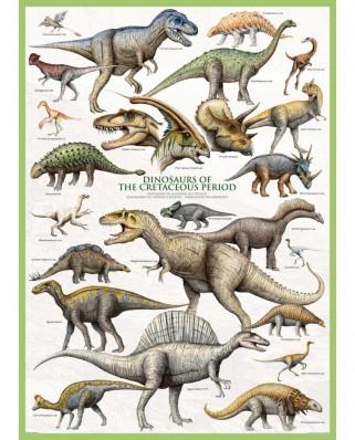 Puzzle Eurographics - Dinosaurier der Kreidezeit, 1.000 piese (6000-0098)