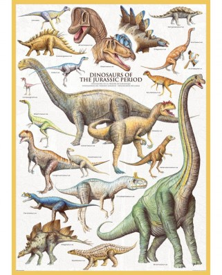 Puzzle Eurographics - Dinosaurier des Jura, 1000 piese (6000-0099)