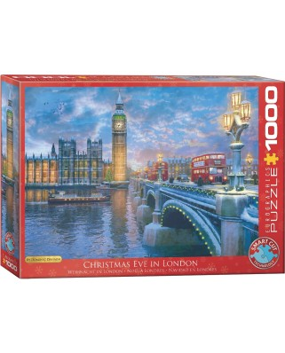Puzzle Eurographics - Dominic Davison: Christmas Eve in London, 1000 piese (6000-0916)