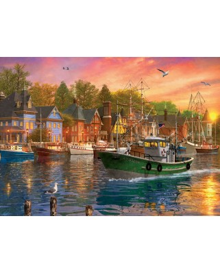 Puzzle Eurographics - Dominic Davison: Harbor Sunset, 1.000 piese (6000-0969)