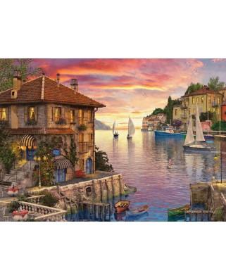 Puzzle Eurographics - Dominic Davison: Mediterranean Harbor, 1.000 piese (6000-0962)