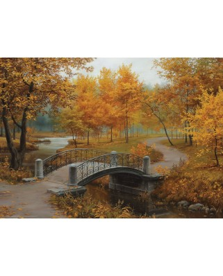 Puzzle Eurographics - Eugeny Lushpin: Autumn in an Old Park, 1.000 piese (6000-0979)