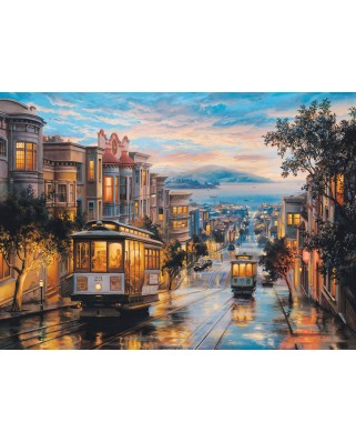 Puzzle Eurographics - Eugeny Lushpin: San Francisco, Cable Car Heaven, 1.000 piese (6000-0957)