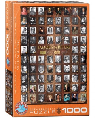 Puzzle Eurographics - Famous Writers, 1000 piese (6000-0249)