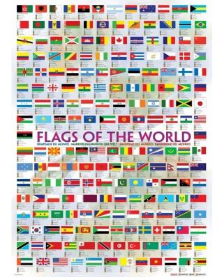 Puzzle Eurographics - Flaggen dieser Erde, 1.000 piese (6000-0128)