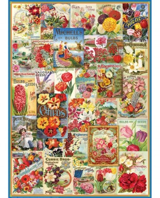 Puzzle Eurographics - Flowers Seed Catalogue, 1.000 piese (6000-0806)