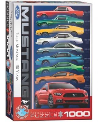 Puzzle Eurographics - Ford Mustang 50th Anniversary, 1000 piese (6000-0699)
