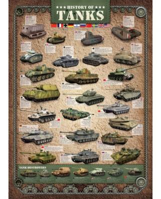 Puzzle Eurographics - Geschichte der Panzer, 1.000 piese (6000-0381)