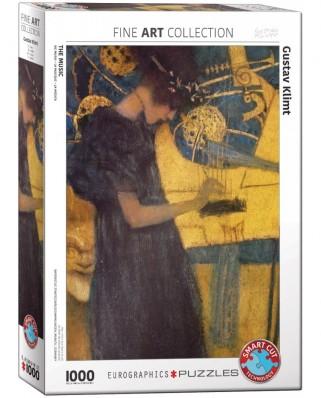 Puzzle Eurographics - Gustav Klimt: Die Musik, 1000 piese (6000-1991)