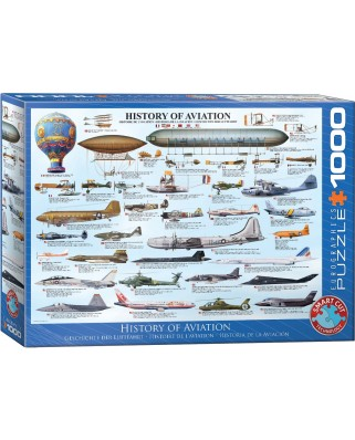 Puzzle Eurographics - History of Aviation, 1000 piese (6000-0086)