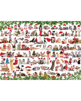 Puzzle Eurographics - Holiday Cats, 1000 piese (6000-0940)